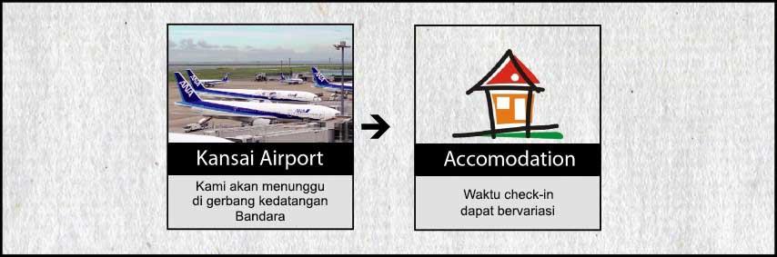 Agenda Tokyo Osaka Kyoto 7h6m USJ, Disney, Fuji Hari 7 Kedatangan Di Kansai International Airport Malam