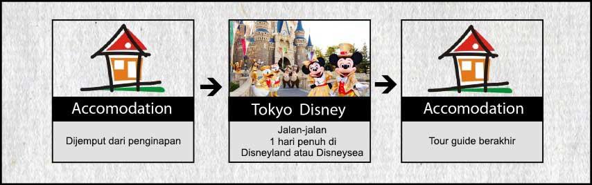 Agenda Tokyo Osaka Kyoto 7h6m USJ, Disney, Fuji Hari 2 Tour Tokyo Disney